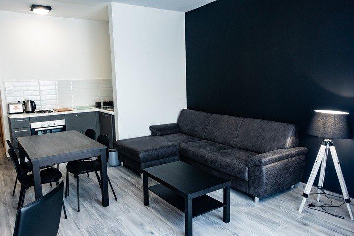 Block Gozo woonkamer / keuken van Deluxe 1 slaapkamer appartement