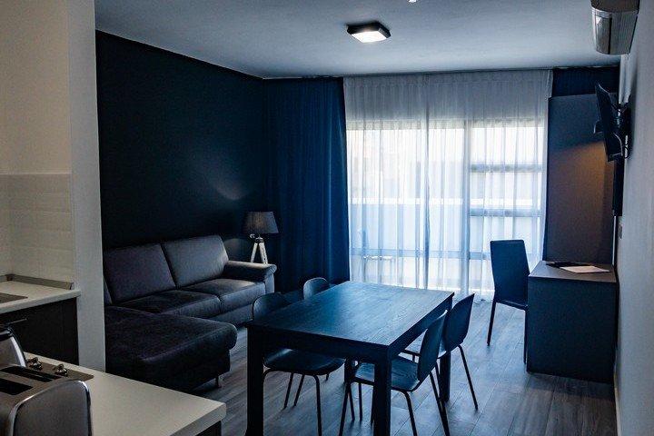 Block Gozo woonkamer van Deluxe 1 slaapkamer appartement