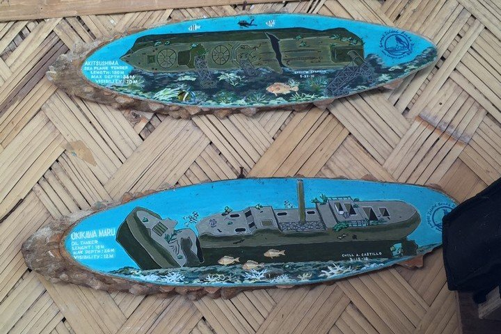 Coron wrakken Akutishima Maru en Okua Maru