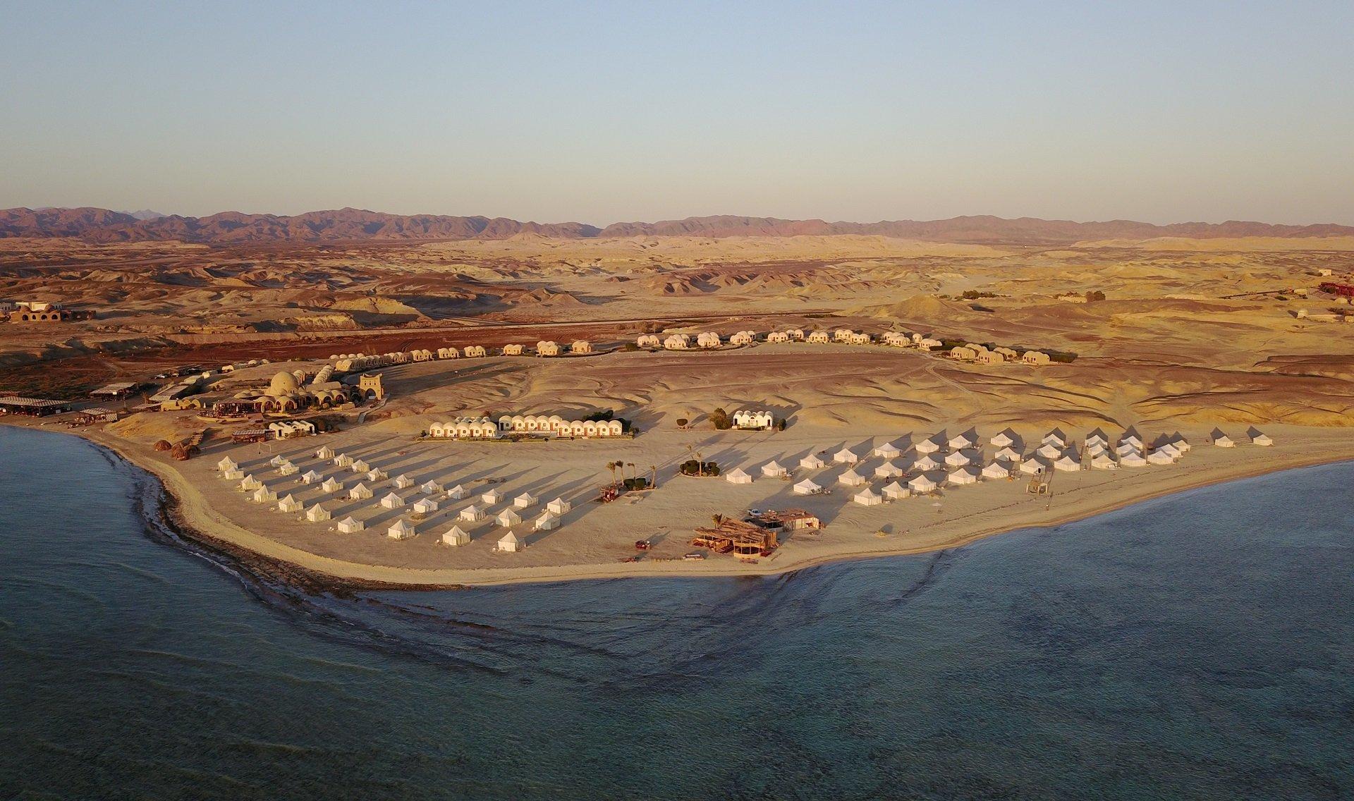 Marsa Shagra luchtfoto