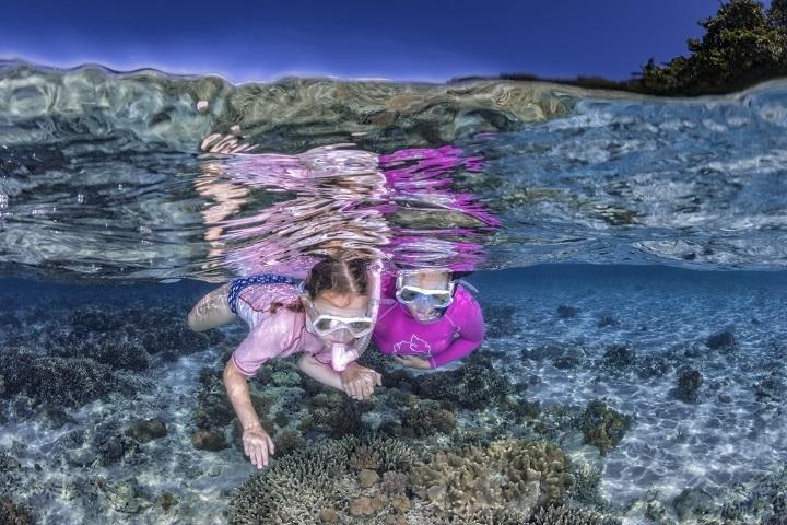 Snorkelen op het huisrif van Bangka Island Resort